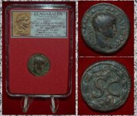 Ancient Roman Empire Coin ELAGABALUS Laurel Wreath On Reverse Antioch