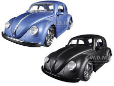 1959 VOLKSWAGEN BEETLE MATT BLUE & MATT GRAY SET OF 2 CARS 1/24 JADA 97489 97490