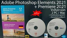 Adobe Photoshop Elements 2021 + Premiere 2021 Vollversion Box + DVD Win/Mac NEU