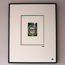 Martin Allen Can Art - Heineken Zip in Large Alluminium Frame
