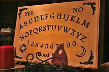 "13""x19"" Solid Wood Engraved Spirit Talking Board, Ouija, Ghost - Maple"