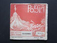 FUTURISMO - POESIA N. 6-7-8 - ANNO II - 1906 - RIVISTA DIRETTA DA F.T. MARINETTI