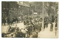 RPPC Military Parade WWI COLUMBIA PA Lancaster County Real Photo Postcard