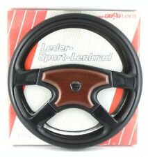 Genuine Lancia Atiwe Leather, wood 370mm steering wheel, 1990. SUPERB!  7E.