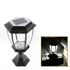 New listing 5W Bright Led Solar Powered Fence Solar Lamp Gate Wall Lamp Post Light Outdoor