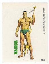 1980 Spanish Marvel Comics Superhero Terrabusi Trade Sticker #233 Namor McKenzie