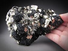 Pyrite, Sphalerite, and Quartz Crystals, Huaron, Peru