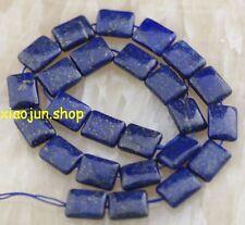 "Natural 13x18mm Egyptian Lapis Lazuli Gemstone  Rectangle loose Beads 15"""