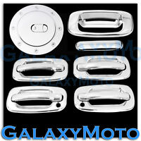 Chevy Silverado+HD Chrome 4 Door Handle+Passenger Keyhole+Tailgate+Gas Cover