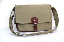 "High Quality Canvas Laptop Notebook Bag Macbook 13"" Multi Function Satchel Khaki"