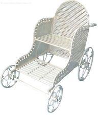 Portapiante Portavaso Giardino Terrazzo carrozza  con ruote in ferro battuto
