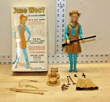 Vintage Marx Johnny West Jane West With Original Box And Accessories