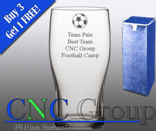 Personalised Engraved Tulip Pint Glass Football Award Trophy Gift Sports