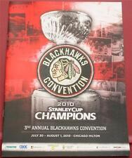 2010 Chicago Blackhawks Convention Program Stanley Cup Champions