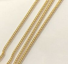 "24 K Solid Yellow Gold Necklace 2.64 Grams 16"" - Baby Children"