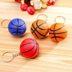 Plastic Sponge Small Keyring Basketball Keychain Key Chain School Bag Pendant