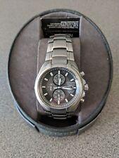 Citizen Eco-Drive Mens Titanium Gray Solar 24H Date Chronograph Watch CA0260-52H