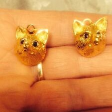 Yellow Gold Plated Crystal Stud Clip - On Costume Earrings