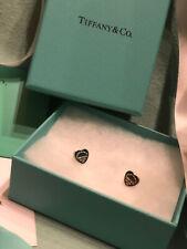 Tiffany & Co. Orecchini cuore in Argento 925 Mini originali