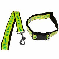 Max Care 120CM Reflective Heavy Duty Dog Puppy Collar Lead Set Adjustable Leash
