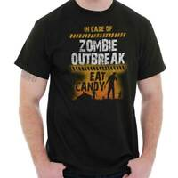 Case of Zombie Outbreak Eat Candy Trick Treat Cool Gift Scary Classic T Shirt Te
