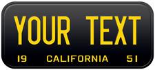 1951 California Old Vintage Retro US USA License Plate Number Plate Embossed Alu