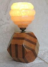 Art Deco Table Lamp Lampada da tavolino Inghilterra c1930, con vetro rosa