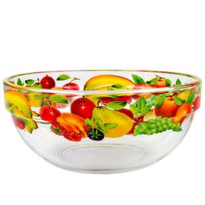 27 fl oz Salad Mixing Bowl with Fruit and Berry Wraparound Pattern / Glass Piala