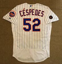 Yoenis Cespedes MLB Holo Game Used Jersey 3 Home Runs GS 500th RBI 2017 NY Mets
