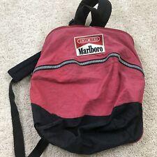 VTG Marlboro Cigarettes 90 Red Logo Backpack Unlimited Bag Black Adventure S2001