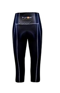 Funkier Women's Pro Knee Tights Padded Cycling Knickers S123-C8 Black