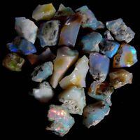 100% NATURAL Multi Color Flashy Stone Ethiopian Fire Opal ROUGH Lot RAW JG2016