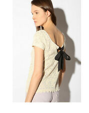 Pins and Needles Bow Back Lace T-shirt Blouse Top XS - avail in black OR white