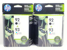 2 x HP 92 Black + 93 Tri Color Combo Pack Ink Cartridge