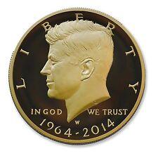2014-W 3/4 oz Proof Gold Kennedy Half Dollar - Box and Certificate - SKU #83918