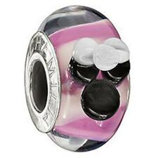 Chamilia Disney ~MINNIE MOUSE~ Pink Murano Glass Sterling Silver Bead DISO-3 $45