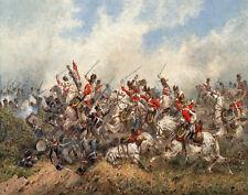 Norie Orlando Royal Scots Greys At Waterloo Canvas 16 x 20    #5423