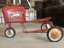L@@K!! Rare Vintage Toy Steel Garton Metal Pedal Car Farm Tractor