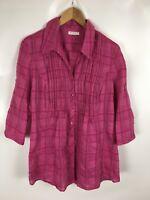 BONITA Bluse, rosa kariert, Größe 38, Baumwolle