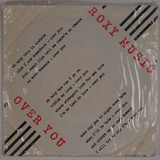 """ROXY MUSIC: Over You Manifesto Import 7"""" Polydor SHRINK 45 w/ PS Glam NM-"""