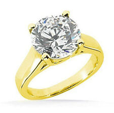 2.03 ct Round Natural Diamond Engagement Wedding Solitaire 14k Yellow Gold Ring