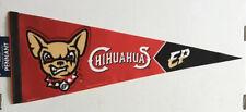 Rare, Unique MiLB El Paso Chihuahuas Premium Felt Baseball Pennant, Brand New