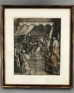 """A late 16thc. woodcut """"Death of the Virgin"""" after Albrecht Dürer"""