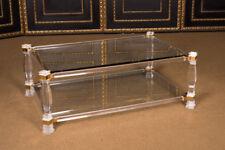 Interessanter Acryl Couch Tisch mit Gold L. 120 cm x T. 86 cm Glas