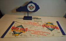 Bambino League World Series 1996 Pennants Wood Sign Display & Managers Badge