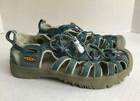 Keen Whisper Sandal Girls Size 2 Waterproof Sport Trail Hiking Shoe Blue Bungee