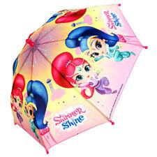 Shimmer & Shine Girls Pink Taslon Umbrella Kids Children Ideal Gift