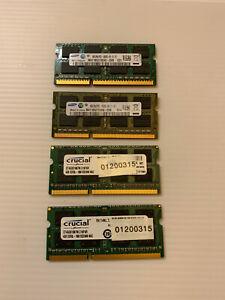 Samsung 16GB Crucial 2Rx8 PC3-10600S DDR3-1333Mhz SODIMM Laptop Memory RAM 1066