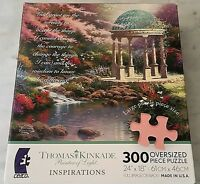 """Thomas Kinkade Inspirational 300 Oversized Piece Puzzle """"Pool of Serenity"""""""