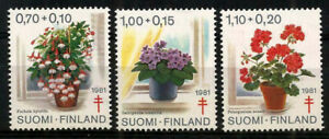Finland 1981 Flowers, Potted Plants, TB Relief Fund set, MNH / UNM